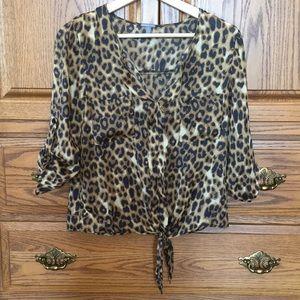 🐆 Charlotte Russe Cheetah Blouse